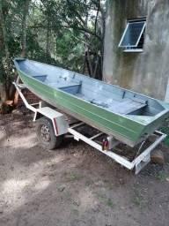 Título do anúncio: Barco de alumínio  com reboque