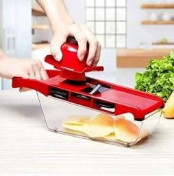 Mandoline Slicer Nicer Fatiador Cortador De Legumes 6 Em 1