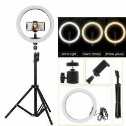 Ring Light Iluminador Anel Luz 30cm 12 Polegadas Tripé 2,1m