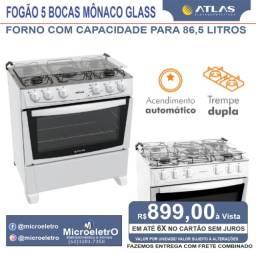 Título do anúncio: Fogão 5 Bocas Mônaco Glass