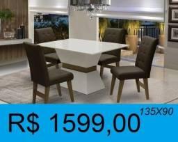 Título do anúncio: mesa super reforçada com  4 cadeiras - entrega e montagem gratuita
