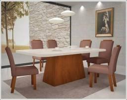 Promoção - Conjunto Sala de Jantar Mesa Laka 6 Cadeiras - Só R$1.599,00