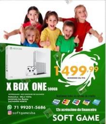 Título do anúncio: Xbox One S 500gb Garantia aceito cartão (Somos Loja Física)