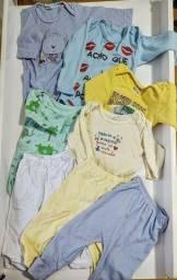 8 peças bebês 3 a 6 meses