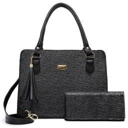 Título do anúncio: Bolsa feminina kit com porta cartão