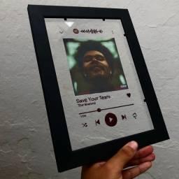 Placa interativa spotify