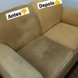 Limpeza a seco de sofá