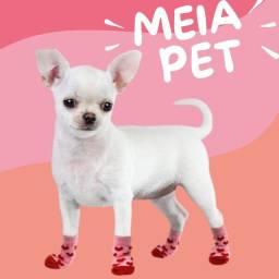 Meia Para Pet Cães Gatos Antiderrapante Sapatos Socks Frio