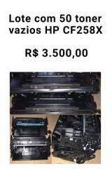 Título do anúncio: Lote com 50 toner HP CF258x Original Vazio