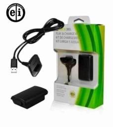 Título do anúncio: Kit Bateria Carregador Cabo Xbox 360 Console Video Game - Entrega Grátis