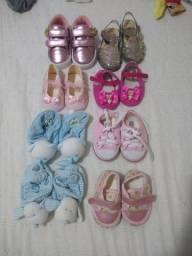 Título do anúncio: Combo 8 calçados bebê menina + brindes