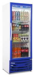 Geladeira porta de vidro 400 lts para bebidas