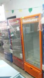 Freezer porta de vidro vertical