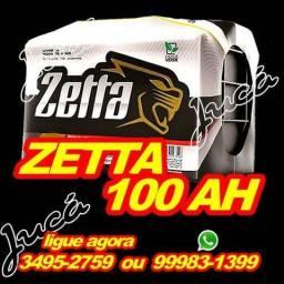 Zetta 100 ah com 12 meses de garantia + brindes