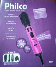 Escova e secador de cabelo Philco 220v NOVO