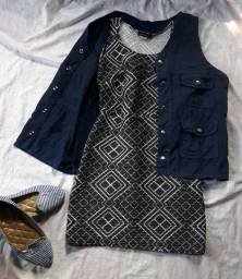 Vestido + colete jeans