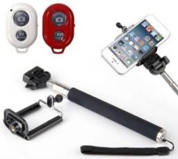 Bastão Selfie Monopod Com Controle Remoto Bluetooth