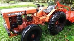 Trator agrale 4100 usado agrícola com 5 implementos