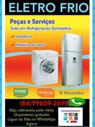 Geladeira máquina de lavar roupa
