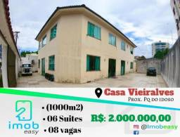 Casa no Vieiralves 6 suítes 40x25 piscina + academia ao lado alugada (aceita permuta)