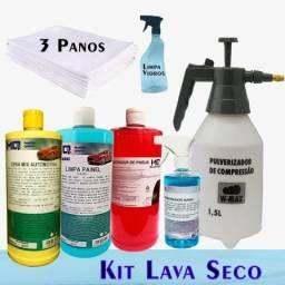 Kit Lava A Seco Automotivo Profissional 7 Produtos