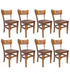 Cadeiras de Madeira Estofada