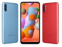 Smartphone Samsung A11 64Gb Preto e Vermelho