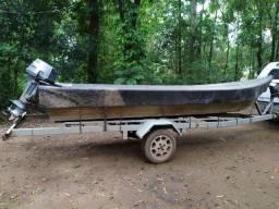 Vendo Barco aluminio 5m com motor