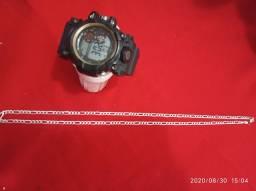 Relógio 1 linha resistente a água prata 70 cm 16 g