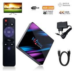 Tv box H96 Max com 4gb de ram e 32gb de armazenamento