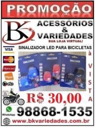 Kit Sinalizador Led Duplo Silicone Para Bicicleta Farol Lanterna- (Loja BK Variedades)