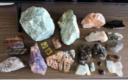 Coleção Com 26 Pedras - Granada, Leopardita, Lepidolita, Etc