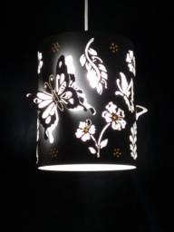 luminaria de pvc de borboletas