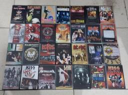 DVD'S - LOTE COM + 170 DVD'S/ROCK INTERNACIONAIS