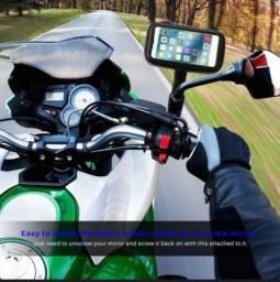 Título do anúncio: Suporte celular GPS moto capa proteção a prova dagua