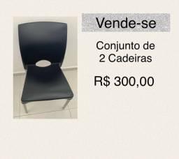 Título do anúncio: Conjunto com 2 cadeiras
