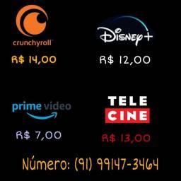 Vendo contas streaming de R$7,00 a 14,00