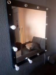 Título do anúncio: Espelho camarim 250 falta as lâmpadas