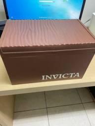 Título do anúncio: Caixa Estojo Invicta Marrom 20 Relógios