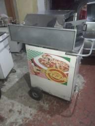 Carrinho de mini pizza