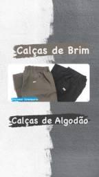 Título do anúncio: Calças de Brim e Calças de Algodão para o Trabalho