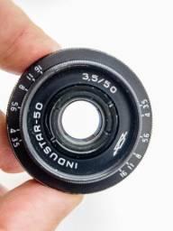 Lente vintage Industar 50mm M42 -Limpa e linda!!!