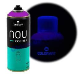 Tinta spray roxo fluorescente Nou Colors (violeta luminoso)