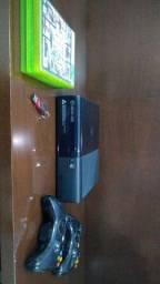 Título do anúncio: Xbox 360 + 3 Manetes + 5 Jogos Originais + Pen Drive 16GB + Kinect + Cabo HDMI