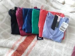 Kit com 7 camisetas da sol