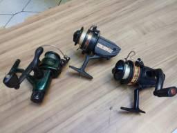 3 molinetes para pesca por 100 reais