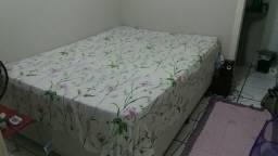 Cama box com colchão e base