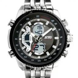 Relógio skmei masculino aço - promoção