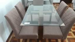 Mesa + 4 cadeiras (Novo, sem uso)