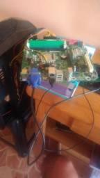 Kit placa mae + memoria + processador